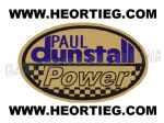 Paul Dunstall Power Tank and Fairing Transfer Decal DDUN13-6